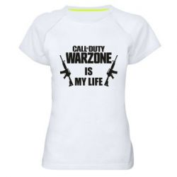 Женская спортивная футболка Call of duty warzone is my life M4A1