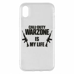 Чехол для iPhone X/Xs Call of duty warzone is my life M4A1