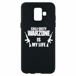 Чехол для Samsung A6 2018 Call of duty warzone is my life M4A1