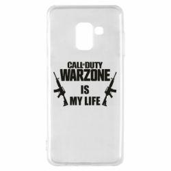 Чехол для Samsung A8 2018 Call of duty warzone is my life M4A1