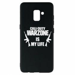 Чехол для Samsung A8+ 2018 Call of duty warzone is my life M4A1