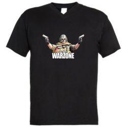 Мужская футболка  с V-образным вырезом Call Of Duty Warzone