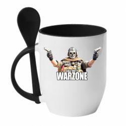 Кружка с керамической ложкой Call Of Duty Warzone