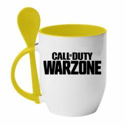 Кружка з керамічною ложкою Call of Duty: Warzone