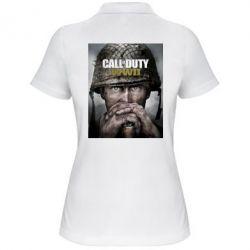 Жіноча футболка поло Call of Duty WW2 poster
