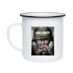 Кружка емальована Call of Duty WW2 poster