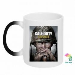 Кружка-хамелеон Call of Duty WW2 poster