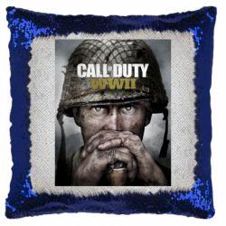 Подушка-хамелеон Call of Duty WW2 poster