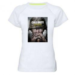 Купить Женская спортивная футболка Call of Duty WW2 poster, FatLine