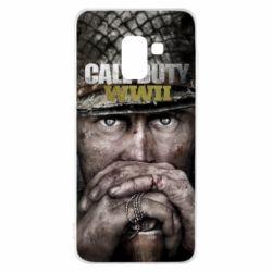 Чехол для Samsung A8 2018 Call of Duty WWII