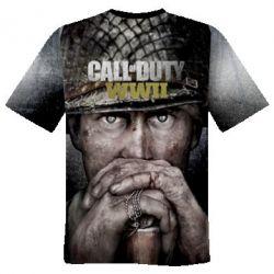Мужская 3D футболка Call of Duty WWII