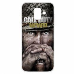 Чехол для Samsung A6 2018 Call of Duty WWII
