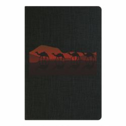 Блокнот А5 Camels in the desert vector