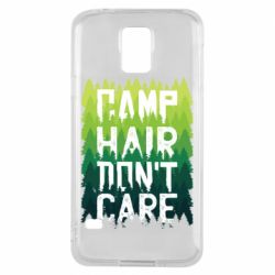 Чехол для Samsung S5 Camp hair don't care