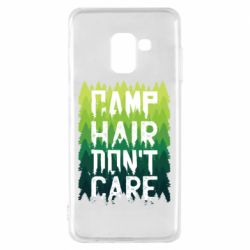 Чехол для Samsung A8 2018 Camp hair don't care