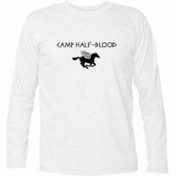 Футболка с длинным рукавом Camp half-blood - FatLine