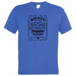 Чоловіча футболка з V-подібним вирізом Cannabis label