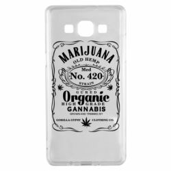 Чохол для Samsung A5 2015 Cannabis label