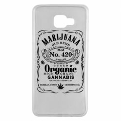 Чохол для Samsung A7 2016 Cannabis label