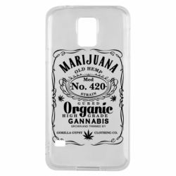 Чохол для Samsung S5 Cannabis label