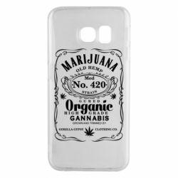 Чохол для Samsung S6 EDGE Cannabis label