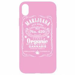 Чохол для iPhone XR Cannabis label