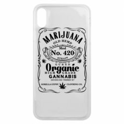Чохол для iPhone Xs Max Cannabis label