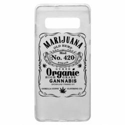 Чохол для Samsung S10+ Cannabis label
