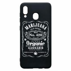 Чохол для Samsung A20 Cannabis label