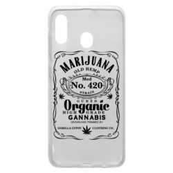 Чохол для Samsung A30 Cannabis label