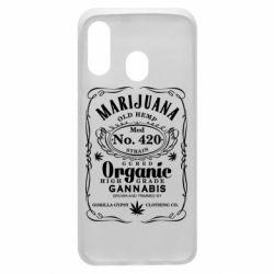 Чохол для Samsung A40 Cannabis label