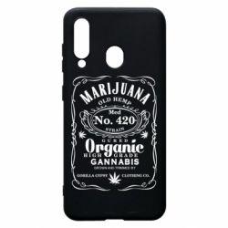 Чохол для Samsung A60 Cannabis label