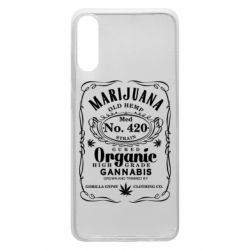 Чохол для Samsung A70 Cannabis label