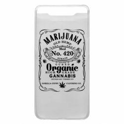 Чохол для Samsung A80 Cannabis label
