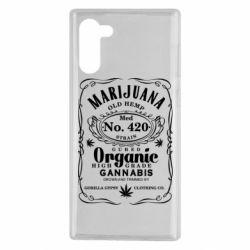 Чохол для Samsung Note 10 Cannabis label