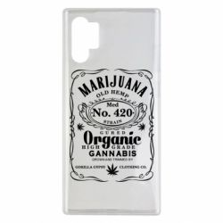 Чохол для Samsung Note 10 Plus Cannabis label