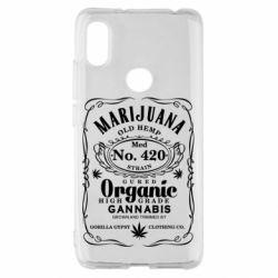 Чохол для Xiaomi Redmi S2 Cannabis label