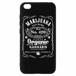 Чохол для Xiaomi Redmi Go Cannabis label