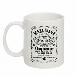 Кружка 320ml Cannabis label