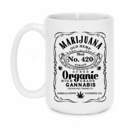 Кружка 420ml Cannabis label
