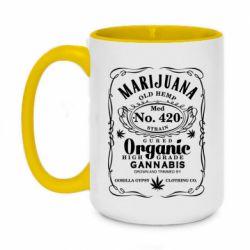 Кружка двоколірна 420ml Cannabis label