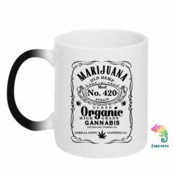 Кружка-хамелеон Cannabis label