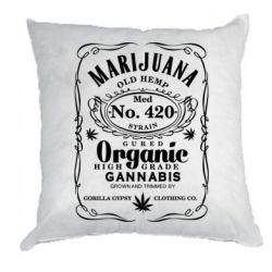 Подушка Cannabis label