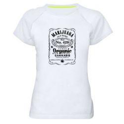 Жіноча спортивна футболка Cannabis label