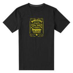 Чоловіча стрейчева футболка Cannabis label
