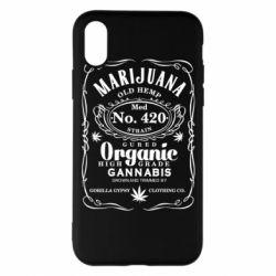 Чохол для iPhone X/Xs Cannabis label