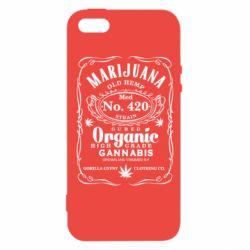 Чохол для iphone 5/5S/SE Cannabis label