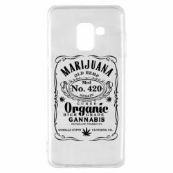 Чохол для Samsung A8 2018 Cannabis label