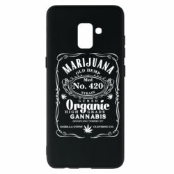 Чохол для Samsung A8+ 2018 Cannabis label