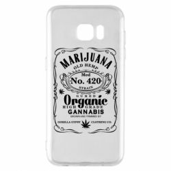 Чохол для Samsung S7 EDGE Cannabis label